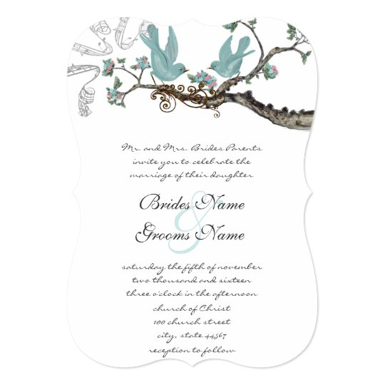 Vintage Robins Egg Blue Blue Wedding Card