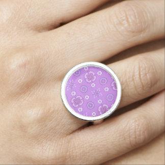Vintage Rockabilly Bandanna Purple Retro Jewelry Ring