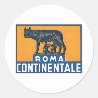 Vintage Roma Continentale Round Sticker