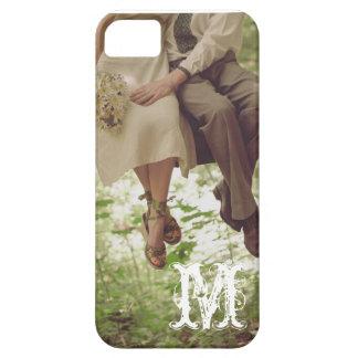 Vintage Romance Love Couple Monogram IPHONE 5 Case