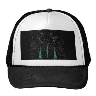 Vintage Romance on Black & Teal Mesh Hats