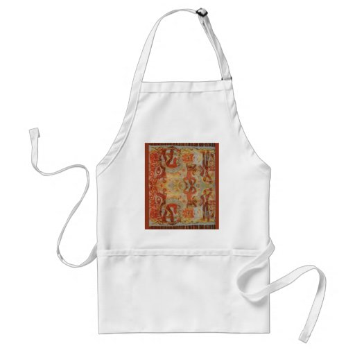 Vintage Romanian embroidery, traditional design Apron