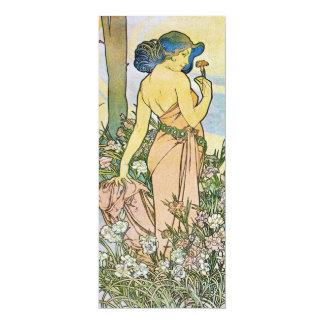 """Vintage Romantic Art 4"""" X 9.25"""" Invitation Card"""