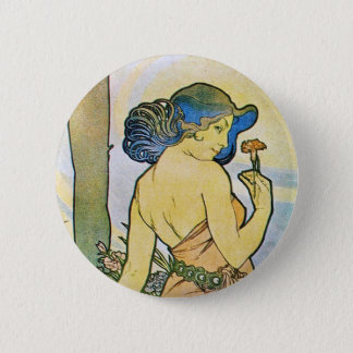 Vintage Romantic Art 6 Cm Round Badge