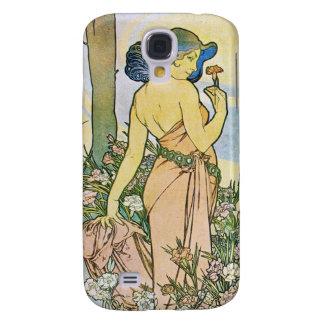 Vintage Romantic Art Galaxy S4 Case