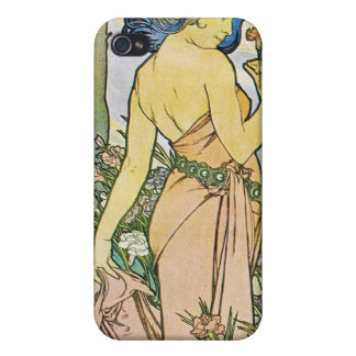 Vintage Romantic Art iPhone 4/4S Covers