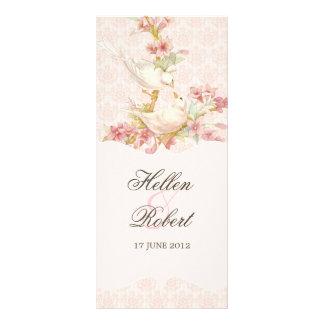 Vintage Romantic Birds  Wedding Ceremony Program Custom Rack Cards