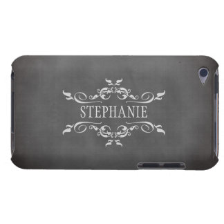 Vintage romantic chalkboard personalized name case iPod Case-Mate cases