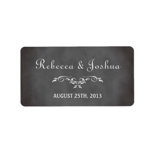 Vintage romantic chalkboard wedding favour tag