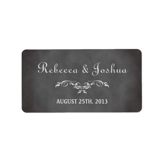 Vintage romantic chalkboard wedding favour tag address label