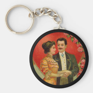 Vintage Romantic Couple Valentine Keychain