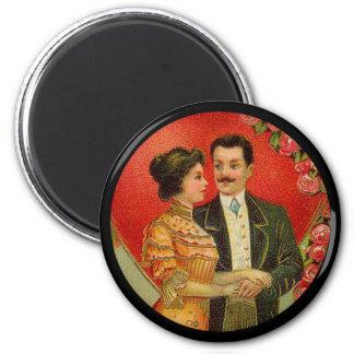 Vintage Romantic Couple Valentine Magnet