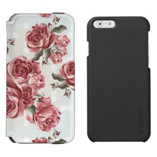 Vintage Romantic drawn red roses bouquet Incipio Watson™ iPhone 6 Wallet Case