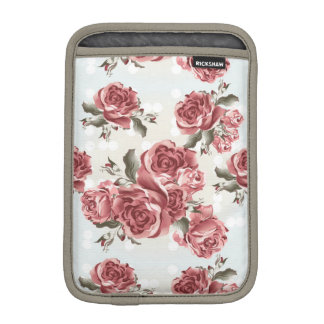 Vintage Romantic drawn red roses bouquet iPad Mini Sleeve
