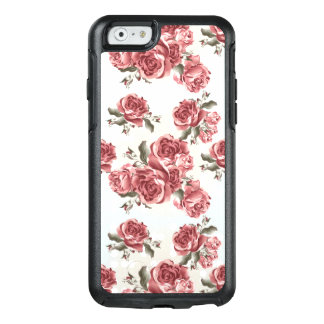 Vintage Romantic drawn red roses bouquet OtterBox iPhone 6/6s Case