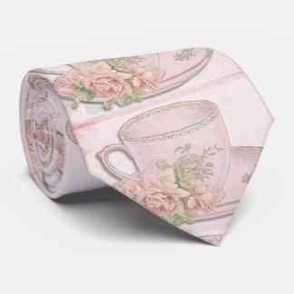 Vintage romantic english tea cup tie