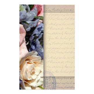 Vintage, romantic flower design stationery