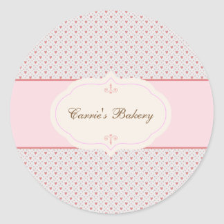 Vintage Romantic Frame Bakery Label