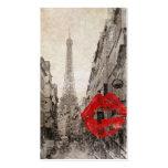 Vintage Romantic Paris Eiffel Tower Pack Of Standard Business Cards