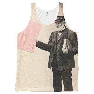 Vintage romantic postman All-Over print tank top