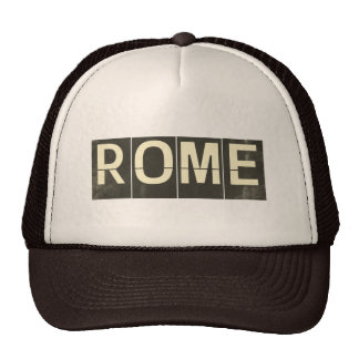 Vintage Rome Departure Board Hats