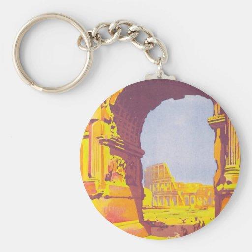 Vintage Rome Express Key Chain