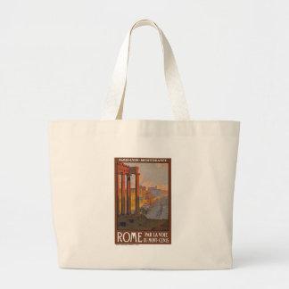 Vintage Rome Italy Canvas Bag