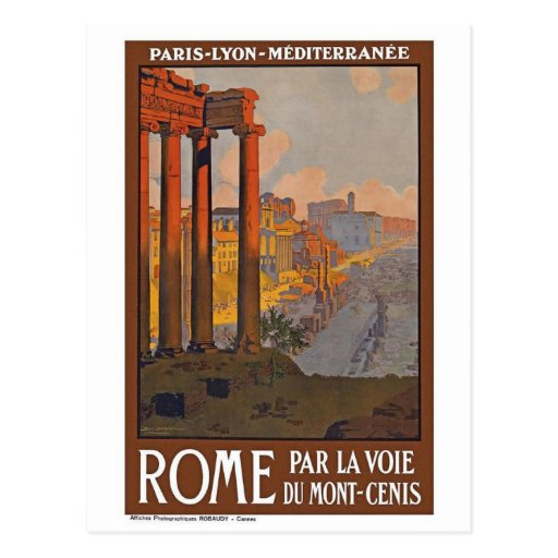 Vintage Rome Italy Post Card