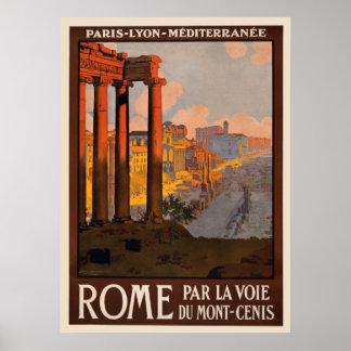 Vintage Rome Poster 8 1/2 x 11
