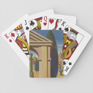 Vintage Rome Travel Poster Art Playing Cards