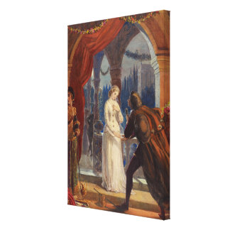 Vintage Romeo and Juliet Painting (1861) Canvas Print