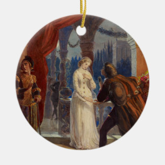 Vintage Romeo and Juliet Painting (1861) Ceramic Ornament