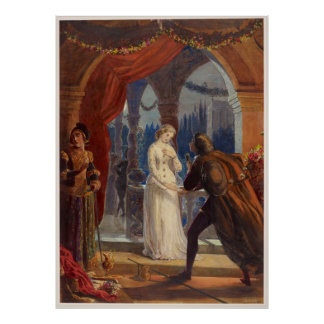 Vintage Romeo and Juliet Painting (1861) Poster