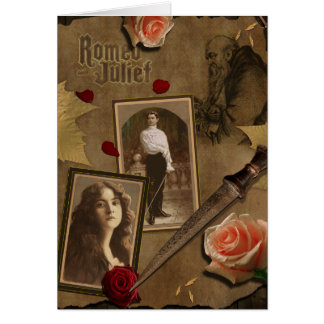 Vintage Romeo and Juliet Scrapbook Greeting Card