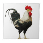 Vintage Rooster Chicken Customise Animal best Small Square Tile