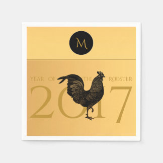 Vintage Rooster Chinese New Year 2017 Paper N Paper Napkin