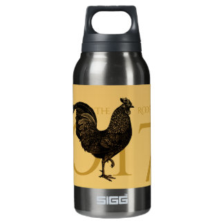 Vintage Rooster Chinese New Year 2017 Thermo B Insulated Water Bottle