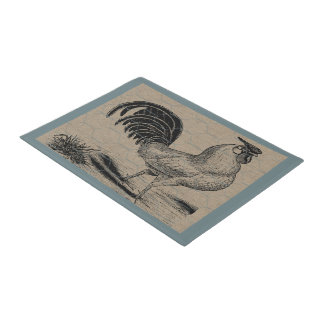Vintage Rooster Country Farm and Pets Doormat
