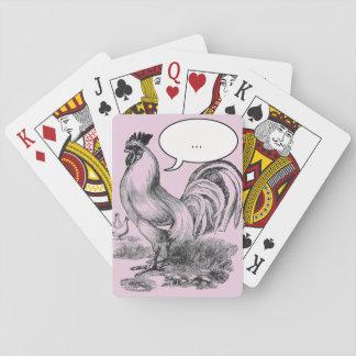 Vintage rooster illustration poker deck
