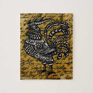 Vintage rooster jigsaw puzzle