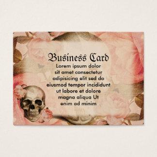 Vintage Rosa Skull Collage Business Card