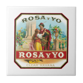 Vintage Rosa Y Yo Clear Havana Cigar Label Tile