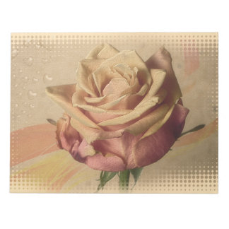 Vintage rose beautiful illustration notepad