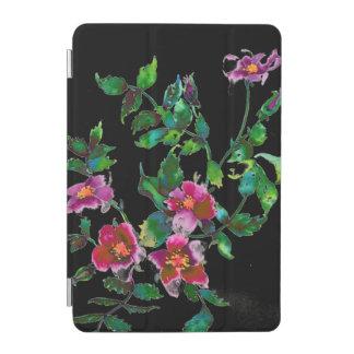 Vintage Rose -black iPad Mini Cover