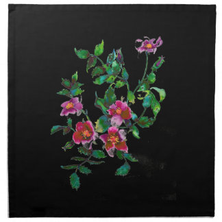 Vintage Rose - black Napkins