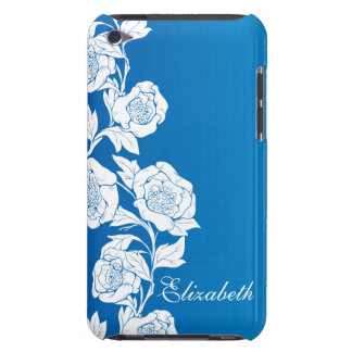 Vintage Rose Blue Barely There iPod Covers