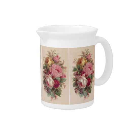 Vintage Rose Bouquet Pitcher