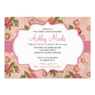 Vintage Rose Bridal Shower Invitation