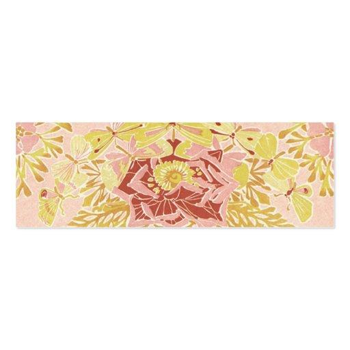 Vintage Rose & Butterflies - Bookmark Business Card Templates