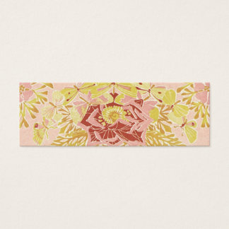Vintage Rose & Butterflies - Bookmark Mini Business Card